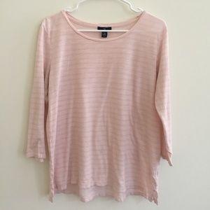 GAP Medium Soft Pink 3/4 Sleeve Top